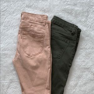 2 Pair of Bluenotes Coloured Jeggings